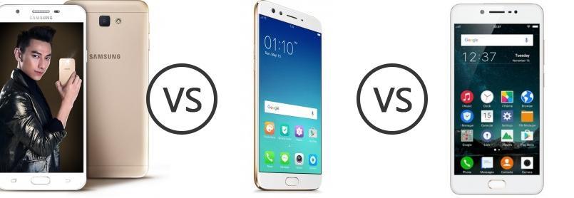 Samsung Galaxy J7 Prime vs Oppo F3 Plus vs Vivo V5s - Phone