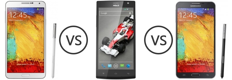 vs xolo q2000 1201 vs samsung galaxy note 3 compare xolo q1000s vs