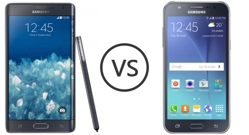 Samsung Galaxy Note Edge vs Samsung Galaxy J7 - Phone Comparison