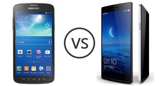 Samsung Galaxy S4 Active Lte A 1230 Vs Oppo Find 7 Qhd 1431