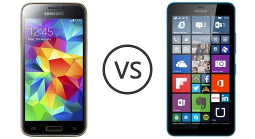 samsung galaxy s5 mini vs microsoft lumia 640 xl lte phone comparison. Black Bedroom Furniture Sets. Home Design Ideas