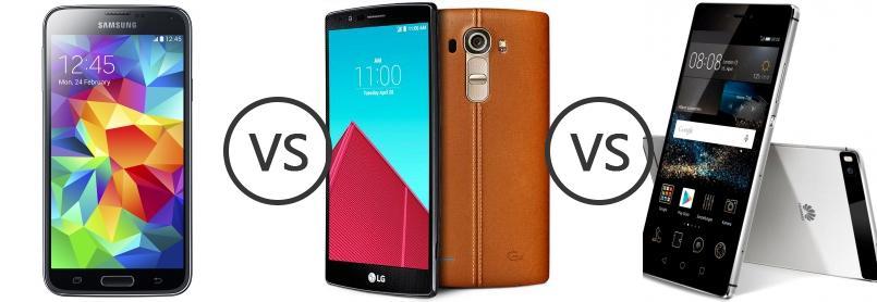 Samsung Galaxy S5 Octa Core Vs LG G4 Vs Huawei P8
