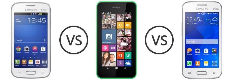 Nokia Lumia 1625 S7262 vs Nokia Lumia 530