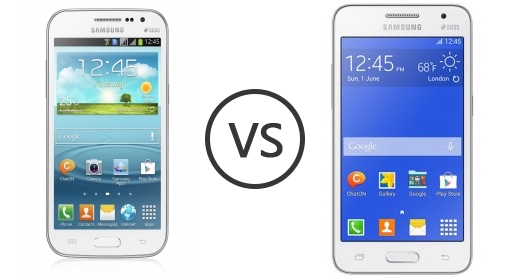 Samsung Galaxy Win Duos I8552 Vs Samsung Galaxy Core 2 Duos Phone