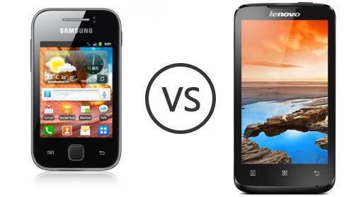 Samsung galaxy y s5360 vs lenovo a316i phone comparison