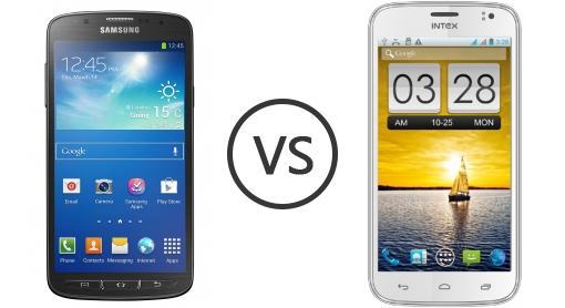 Samsung I9295 Galaxy S4 Active vs Intex Aqua i5