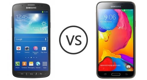 Samsung I9295 Galaxy S4 Active vs Samsung Galaxy S5 LTE-A ...