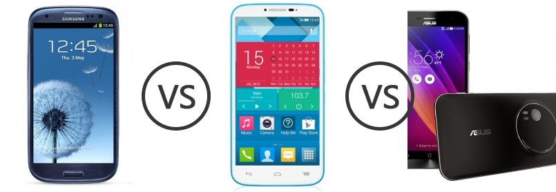 Samsung I9300 Galaxy S III S3 Vs Alcatel One Touch Pop