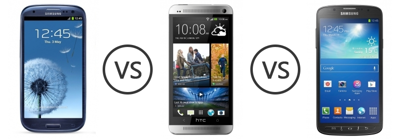 Samsung I9300 Galaxy S III (S3) vs HTC One vs Samsung ...