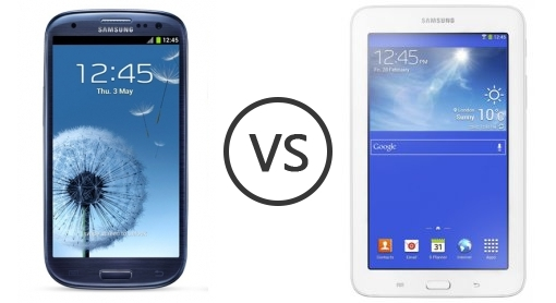 samsung i9300 galaxy s iii s3 vs samsung galaxy tab 3 7 0 lite phone comparison. Black Bedroom Furniture Sets. Home Design Ideas