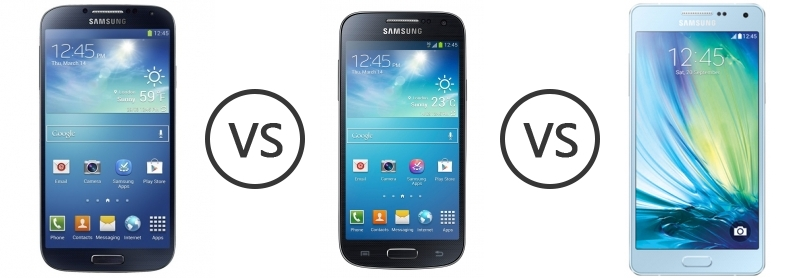 samsung i9500 galaxy s4 vs samsung galaxy s4 mini vs samsung galaxy a5 phone comparison. Black Bedroom Furniture Sets. Home Design Ideas
