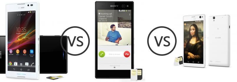 Sony Xperia C vs Sony Xperia C3 Dual vs Sony Xperia C4 Dual