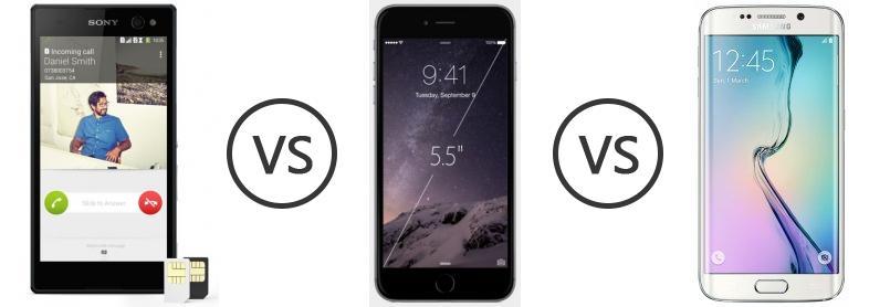 Sony Xperia C3 Dual vs Apple iPhone 6 Plus vs Samsung Galaxy