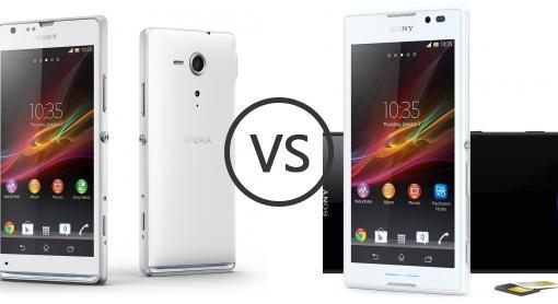 Sony Xperia SP vs Sony Xperia C - Phone Comparison