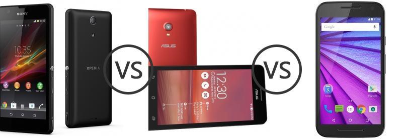 Sony Xperia ZR Vs Asus Zenfone 6 Vs Motorola Moto G 3rd
