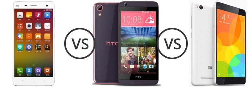 Xiaomi Mi 4 vs HTC Desire 626G+ vs Xiaomi Mi 4i - Phone Comparison