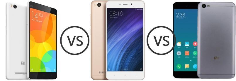 Xiaomi Mi 4c vs Xiaomi Redmi 4A vs Xiaomi Redmi Note 5A - Phone ...