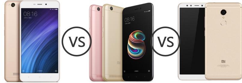 Xiaomi Redmi 4A vs Xiaomi Redmi 5a vs Xiaomi Redmi 5 - Phone ...