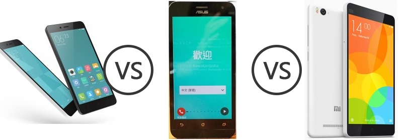 have xiaomi 4i vs asus zenfone 2 also the new