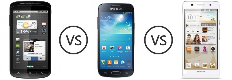ZTE Skate vs Samsung Galaxy S4 Mini vs Huawei Ascend P6 S ...