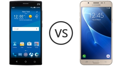 zte zmax pro vs samsung j7 are