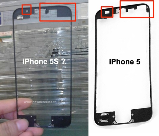 Alleged photos of iPhone 5S front panel hint at new sensor array ...