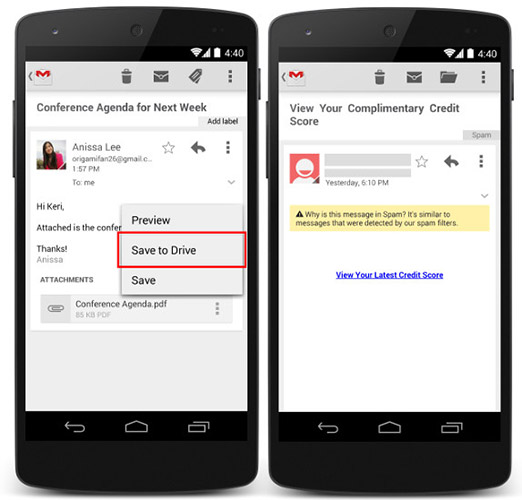 how to open gmail attachments on drive