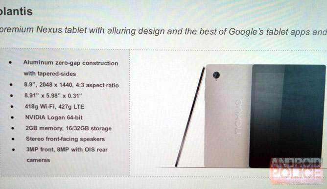 HTC Volantis with 8.9-inch display, Nvidia Tegra K1 ...