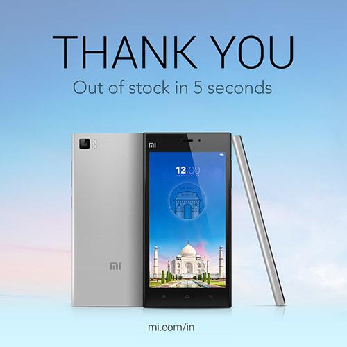 Xiaomi Mi3 sold out in 5 seconds in India, Mi4 takes 37 ...