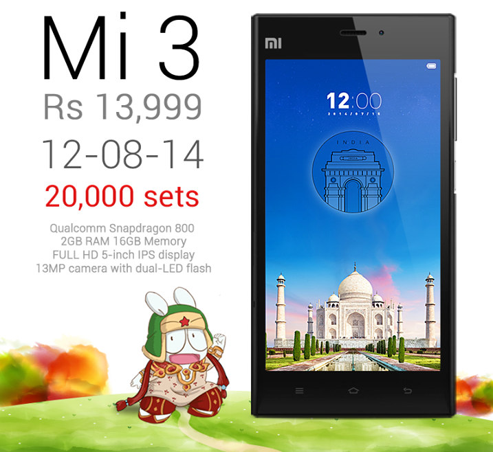 xiaomi gives in to demand will have 20 000 mi3 units for