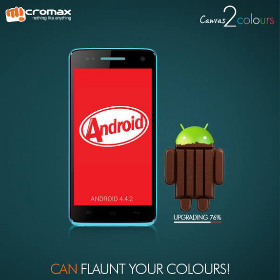Micromax Canvas 2 Colours A120 Android 4.4 KitKat OTA ...