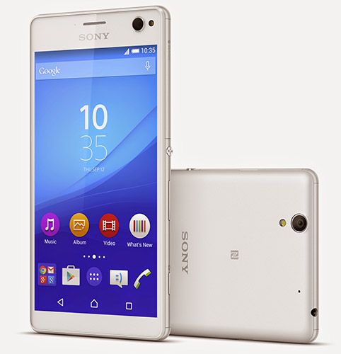 sony xperia with front flash light
