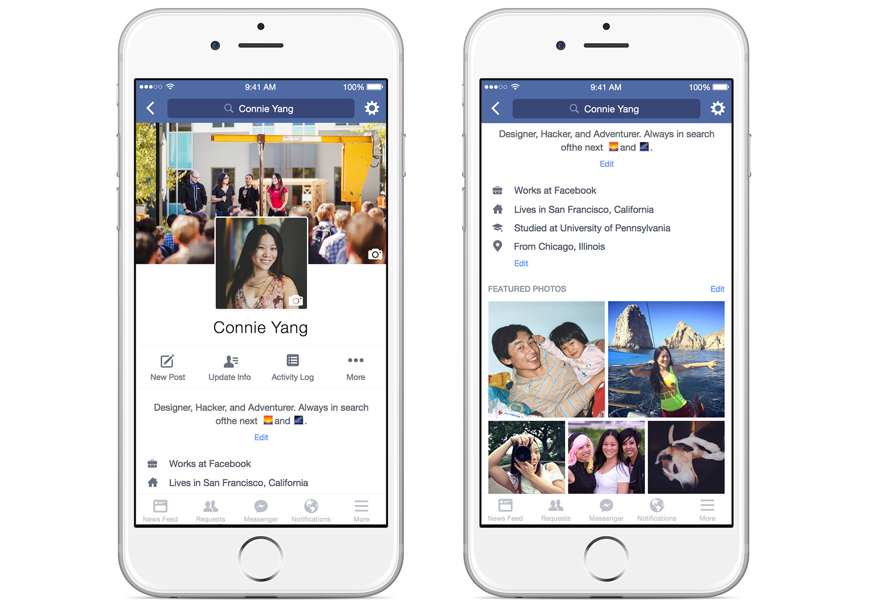Facebook Redesigns Mobile Profiles, Allows Adding Looping