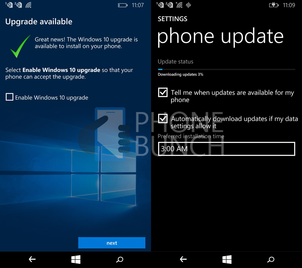 Microsoft has started rolling out windows 10 mobile update for Windows 10 update