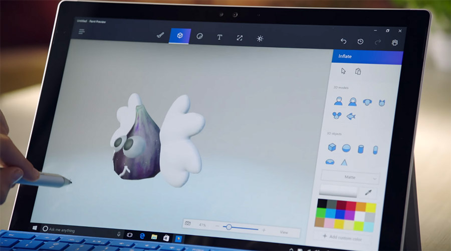 Microsoft brings 3d drawing to the masses with paint 3d for How to paint 3d