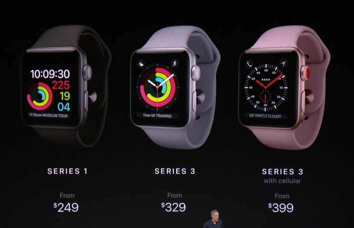 Apple Watch Series 3 announced, swim proof, cellular ...