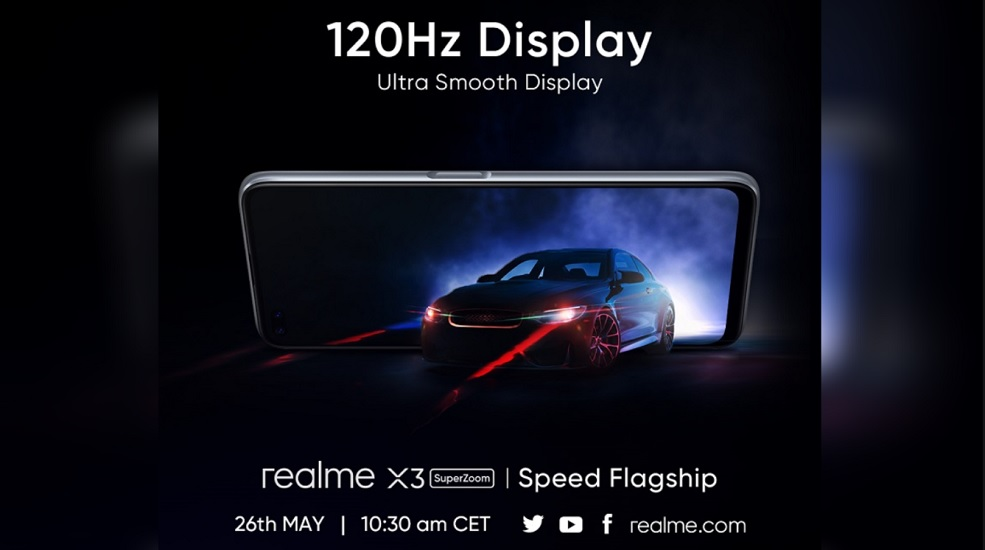Realme X3 Superzoom To Be Announced On May 26 With 120hz Display