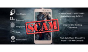 ChampOne C1 4G smartphone with fingerprint sensor for Rs. 501 is just another scam
