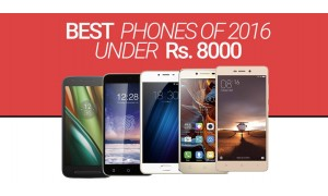 Best Smartphones of 2016 Under Rs. 8000