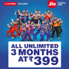 Reliance Jio Announces All Unlimited Rs. 399 Plan For Jio Prime Users