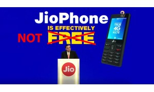 Effectively Free JioPhone isn't really Free. Users have to Spend Minimum Rs. 4500 in 3 Years