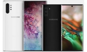 Press renders on Samsung Galaxy Note 10+ with quad rear cameras surface.