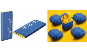 Realme launched Realme power bank Classic Blue 10000mAh and Realme Buds Air Iconic Covers in India.