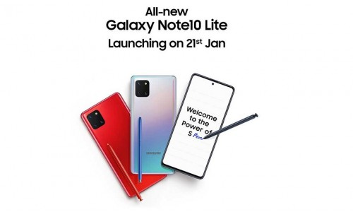 Samsung launching Galaxy Note10 Lite in India on January 21 with 6.7-inch Super AMOLED Display, Exynos 9810 processor, Fast charger 25W