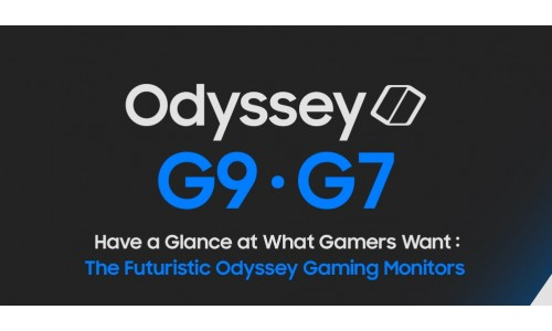 Samsung introducing Next level Odyssey Gaming Monitor G9 and G7 at CES 2020.