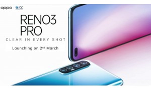 OPPO launching Reno3 Pro in India on March 2 with 44MP dual punch-hole front camera.