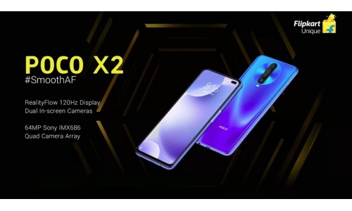 Xiaomi's brand POCO launched POCO X2 in India starting at Rs.15999 with 6.67-inch FHD+ 120Hz display, Snapdragon 730G, 64MP quad rear cameras