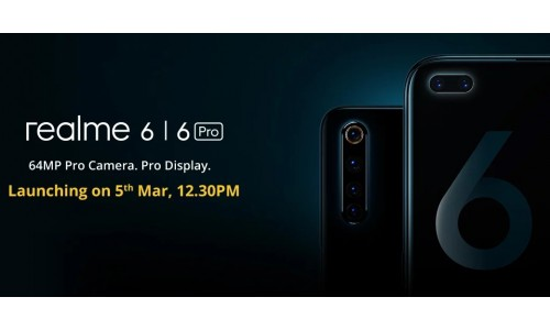 Realme launching Realme 6 and Realme 6 Pro in India on March 5 with FHD+ 90Hz display, 64MP quad rear cameras, 20x digital zoom, 30W fast charging
