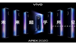 Vivo going to Introduced Vivo APEX 2020 5G concept phone on February 28 with Waterfall Screen, 120Hz Refresh Rate, Snapdragon 865 SoC, 48MP Gimbal Camera.