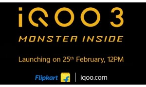 Vivo launching iQOO 3 5G smartphone in India on February 25 on Flipkart with Snapdragon 865 SoC, 64 MP Quad camera, 55W Super Flash Charger